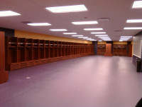 AU football locker room